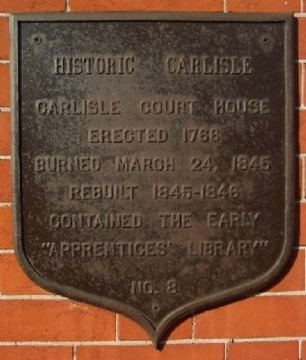 Carlisle Court House Marker image. Click for full size.
