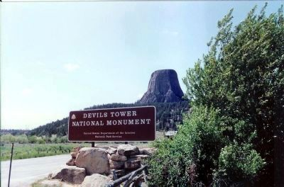 Devils Tower National Momument Sign image. Click for full size.