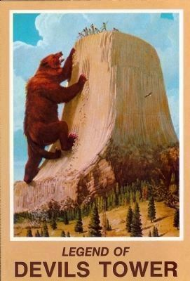 Devils Tower, A legend of Devil's Tower image. Click for full size.