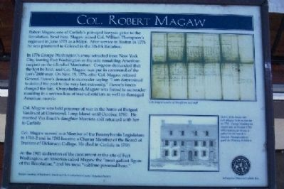 Col. Robert Magaw Marker image. Click for full size.