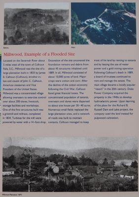 Richard B. Russell Dam Marker -<br>Millwood, Example of a Flooded Site image. Click for full size.