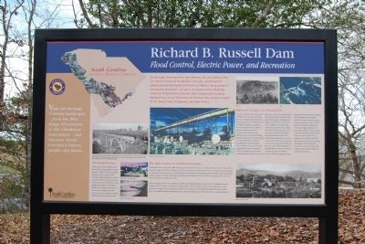 Richard B. Russell Dam Marker image. Click for full size.