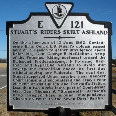 Stuart's Riders Skirt Ashland Marker image. Click for full size.