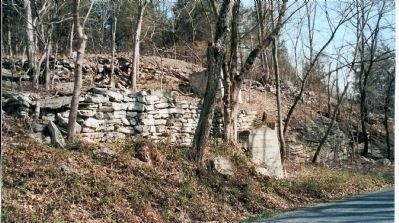 Remains of the east abutment of the old White House bridge image. Click for full size.