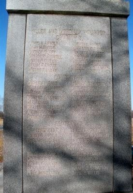 Killed and Mortally Wounded (east face) image. Click for full size.