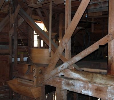 Gilreath&#39;s Mill -<br>Interior Millstone Platform image. Click for full size.
