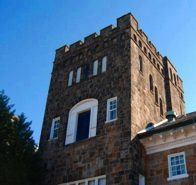 Gassaway Mansion -<br>Tower Detail North Side image. Click for full size.