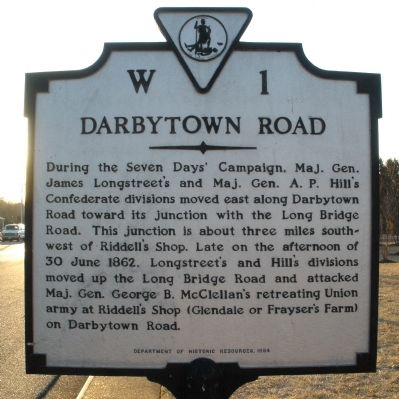 Darbytown Road Marker image. Click for full size.