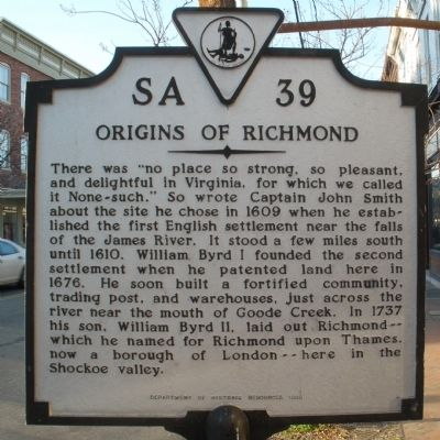 Origins of Richmond Marker image. Click for full size.