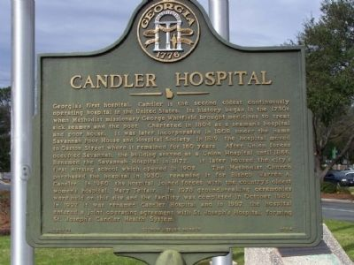 Candler Hospital Marker image. Click for full size.