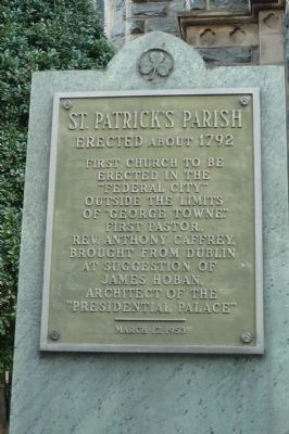 St. Patrick's Parish Marker image. Click for full size.