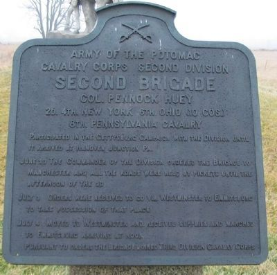 Second Brigade, Second Division, Cavalry Corps Tablet image. Click for full size.