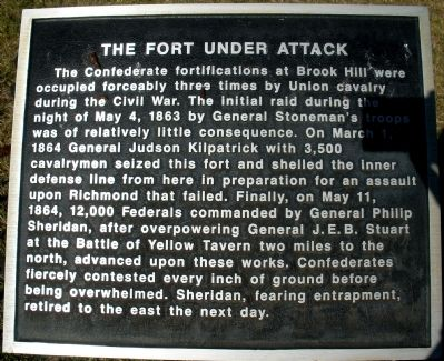 The Fort Under Attack Marker image. Click for full size.