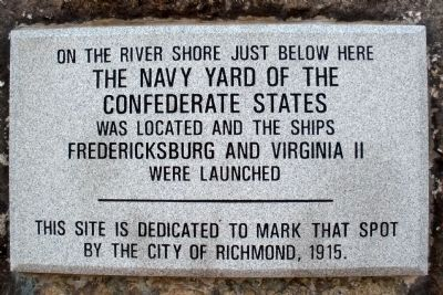 The Navy Yard of the Confederate States Marker (replacement) image. Click for full size.