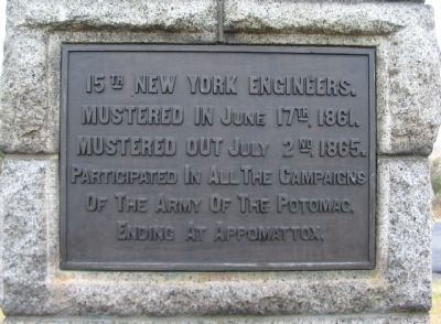 15th New York Engineer Plaque image. Click for full size.