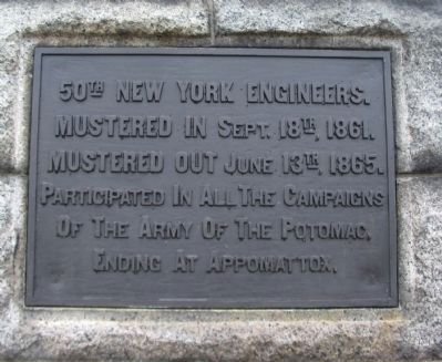 50th New York Engineers Plaque image. Click for full size.