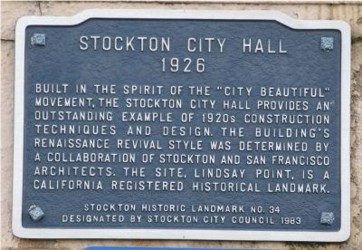 Stockton City Hall Marker image. Click for full size.