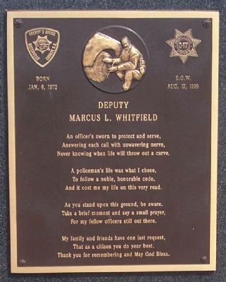 Deputy Marcus L. Whitfield Marker image. Click for full size.