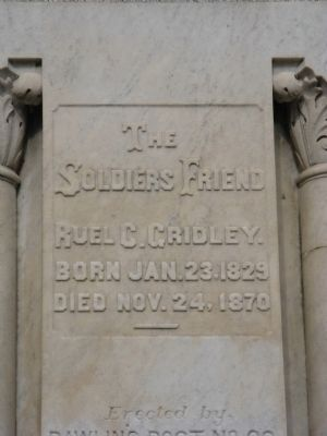 Close-Up of Inscription on Monument image. Click for full size.