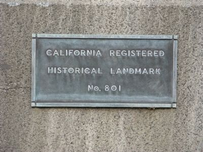 California Registered Historical Landmark No. 801 image. Click for full size.