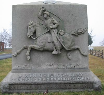 Sixth Ohio Cavalry Monument image. Click for full size.