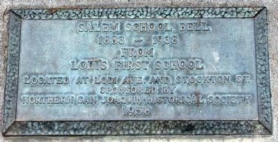Salem School Bell Marker image. Click for full size.