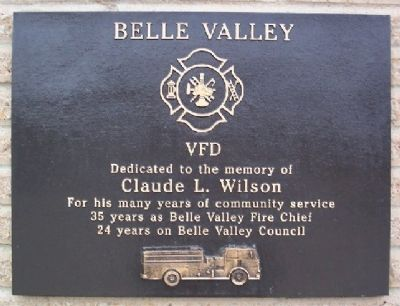 Claude L. Wilson Belle Valley VFD Marker image. Click for full size.