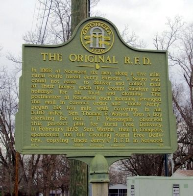 The Original R.F.D. Marker image. Click for full size.