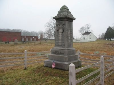 Companies A and C, 1st Ohio Cavalry Monument image. Click for full size.