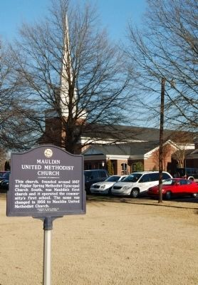 Mauldin United Methodist Church and Marker image. Click for full size.