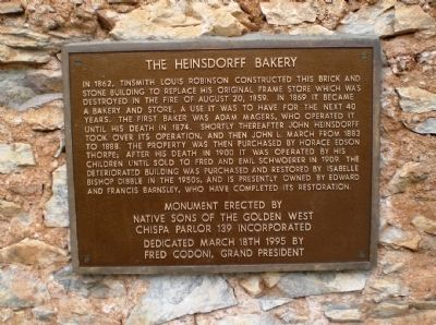 The Heinsdorff Bakery Marker image. Click for full size.