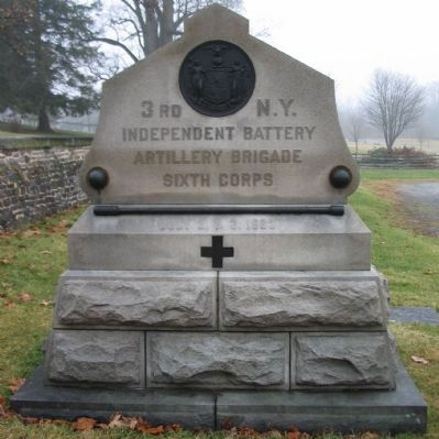 3rd New York Independent Battery Monument image. Click for full size.
