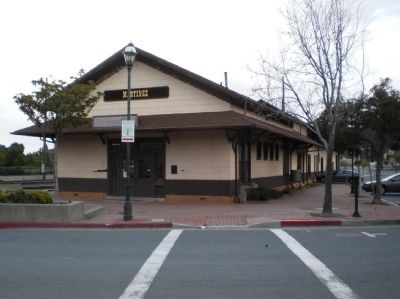 Southern Pacific R.R. Depot - View of West Entrance image. Click for full size.