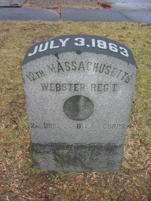 12th Massachusetts Marker image. Click for full size.