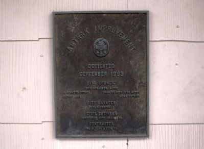 Amtrak Improvement Dedication Plaque image. Click for full size.