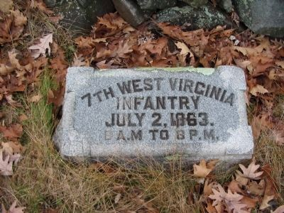 7th West Virginia Infantry Marker image. Click for full size.