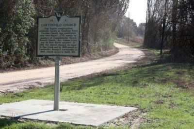 Lawtonville Church Marker, looking southeast along Augusta Stagecoach Rd (SC-S-25-20) image. Click for full size.