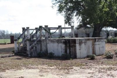 Lawtonville Baptist Church remains, from first move to Estill, SC image. Click for full size.