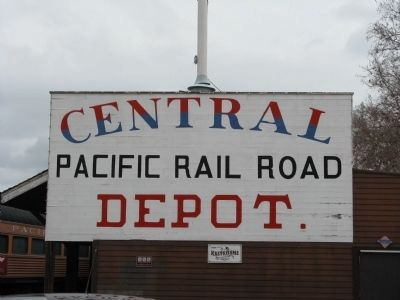 Central Pacific Railroad Freight Depot image. Click for full size.