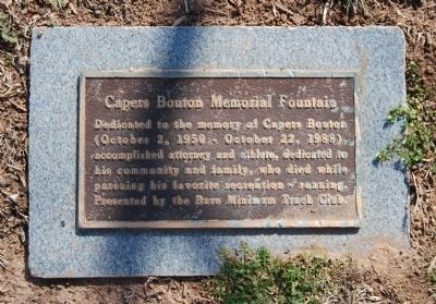Capers Bouton Memoral Fountain Marker image. Click for full size.