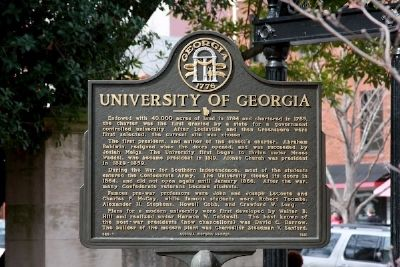 University of Georgia Marker image. Click for full size.