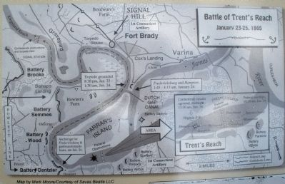 Map of the the Battle of Trent's Reach. image. Click for full size.
