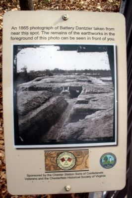 Remains of earthworks marker image. Click for full size.