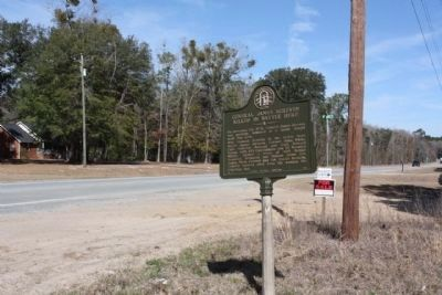 General James Screven Marker, looking north along US 17 (S. Coastal Hwy.) image. Click for full size.