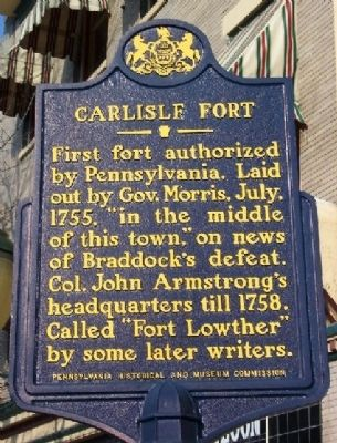 Carlisle Fort Marker image. Click for full size.
