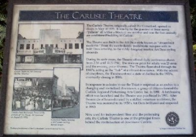 The Carlisle Theatre Marker image. Click for full size.