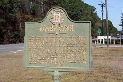 South Newport Baptist Church Marker image. Click for full size.