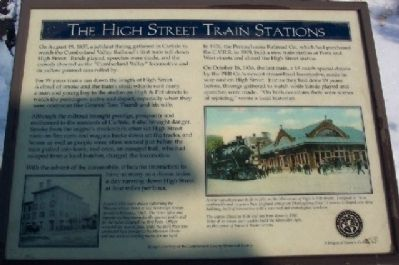 The High Street Train Stations Marker image. Click for full size.
