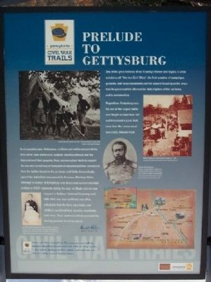 Prelude to Gettysburg Marker image. Click for full size.