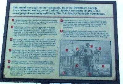 Carlisle's 250th Anniversary Mural Marker image. Click for full size.